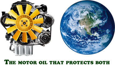 The motor oil that protect both planet and engine